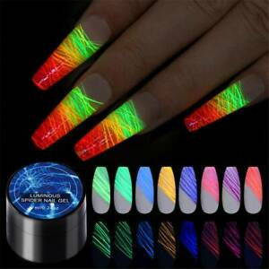 7ml-Nail-Art-Luminous-Spider-UV-Gel-Polish-Neon-Fluorescent-Effect-Gel-DIY