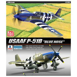 ACADEMY-12303-1-48-Plastic-Model-Kit-USAAF-P-51B-034-Blue-Nose-034