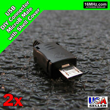 USB MicroB 2x Male DIY Connector Plug Jack Cable Replacement Shell Sets Q51