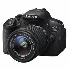 Canon EOS 700D 18MP Digital SLR Camera with 18-55mm STM Lens (ML1592)