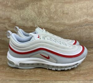 f691a5f996 Nike Air Max 97 OG Pure Platinum Men's Shoes White Red | eBay