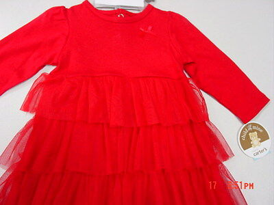 NWT Infant Girls 3 Piece outfit Carter/'s Dress Bloomers Headband Ruffles Red