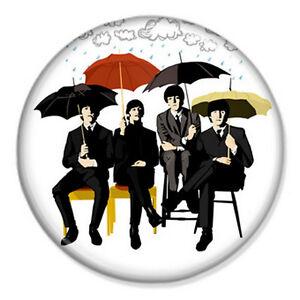 Beatles-Rainy-Day-25mm-1-034-Pin-Badge-Button-Artwork-Lennon-McCartney-Ringo-Band