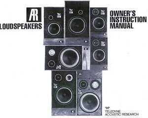 acoustic research ar11 ar 12 to ar 18 owner s manual ebay rh ebay com Workshop Manual User Manual PDF