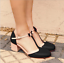 Bowknot-Women-Mid-Heels-T-strap-Round-Toe-Patchwork-Chunky-Buckle-Mary-Jane-Shoe thumbnail 2