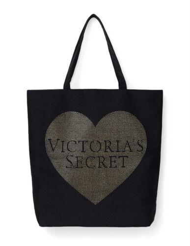 Victoria's Coeur Brillant Sac tout Émaillé Fourre Toile Secret Neuf Noir dqw6nXPId