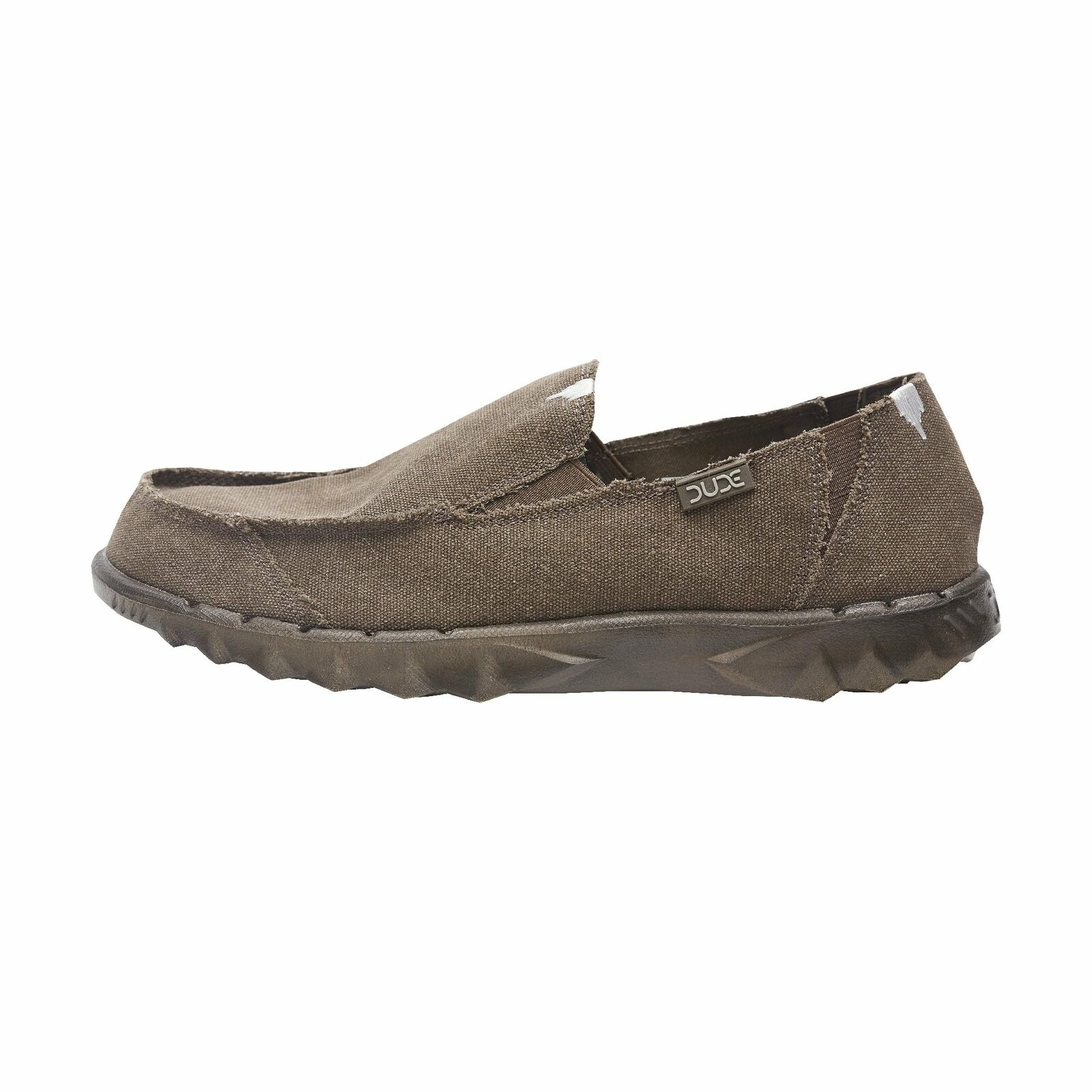 Hey Dude shoes Mens Farty Roughcut Chocolate Canvas Slip On Mule