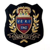 Veritas University Blazer Patch Embroidery Black Golden High Quality Made India