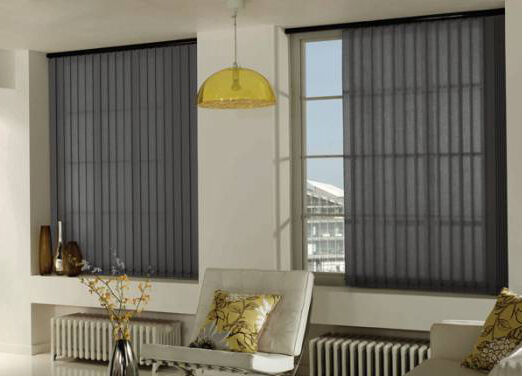 Lamellenvorhang Grünikalanlage Stoff Lamelle 127mm Sonnenschutz bis 180cm Breite  | Quality First