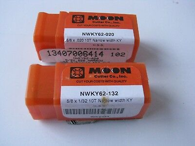 "5//8/"" Diameter 1//32/"" Wide HSS KeySeat Cutter Moon Cutter #NWKY62-132 USA"
