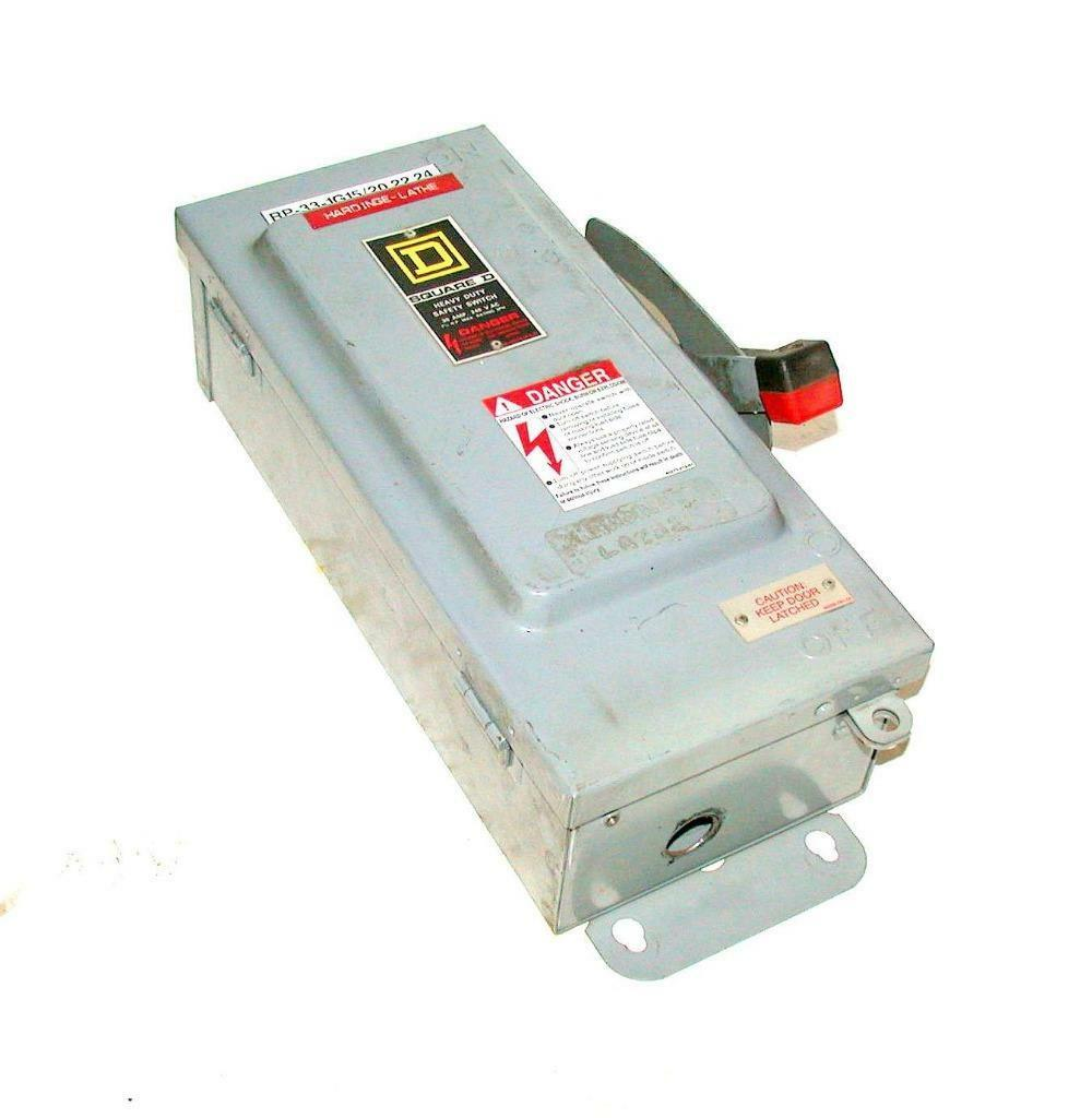 SQUARE D  H321AWK  30 AMP FUSIBLE SAFETY SWITCH DISCONNECT 240 VAC