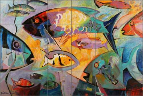 Ceramic Tile Mural Backsplash Cullar Cozumel Undersea Sea Life Fish Art WC110
