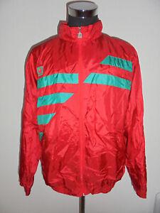 Vintage-Uhlsport-nylon-chaqueta-90s-Sport-chaqueta-brillo-Shiny-rythm-XL