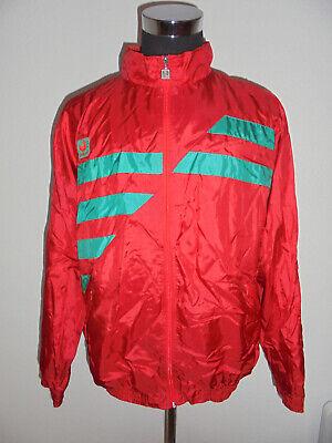 Ultima Raccolta Di Vintage Uhlsport Giacca In Nylon 90s Sport Giacca Jacket Lucentezza Shiny Oldschool Xl-mostra Il Titolo Originale