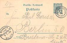 Ganzsache Deutsche Reichspost Postkarte 5 Pfennig gel. Kotzschenbroda 1894