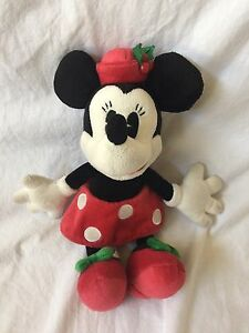 736a66ec64d DISNEY PARKS Christmas Holiday Stuffed Plush MINNIE MOUSE Disneyland Walt  World