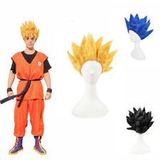 Dragonball Z Cosplay Wig Goku Super Saiyan Gold Japanese Anime Costume Xmas Gift