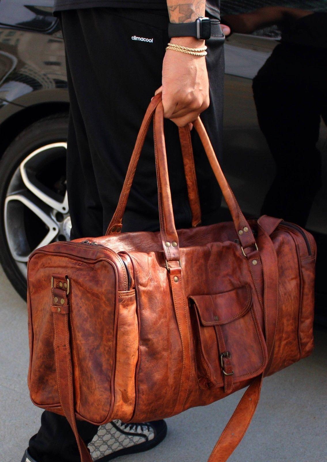 Vintage Retro Unisex Unisex Unisex Vintage Leder Wochenende Schulter Reisetasche Reisetasche    | Billiger als der Preis  d6b4b8