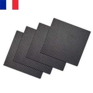 200-250mm-Plaque-de-Fibre-de-Carbone-Panneau-Drap-3K-Plaine-Brillant-0-5-3mm