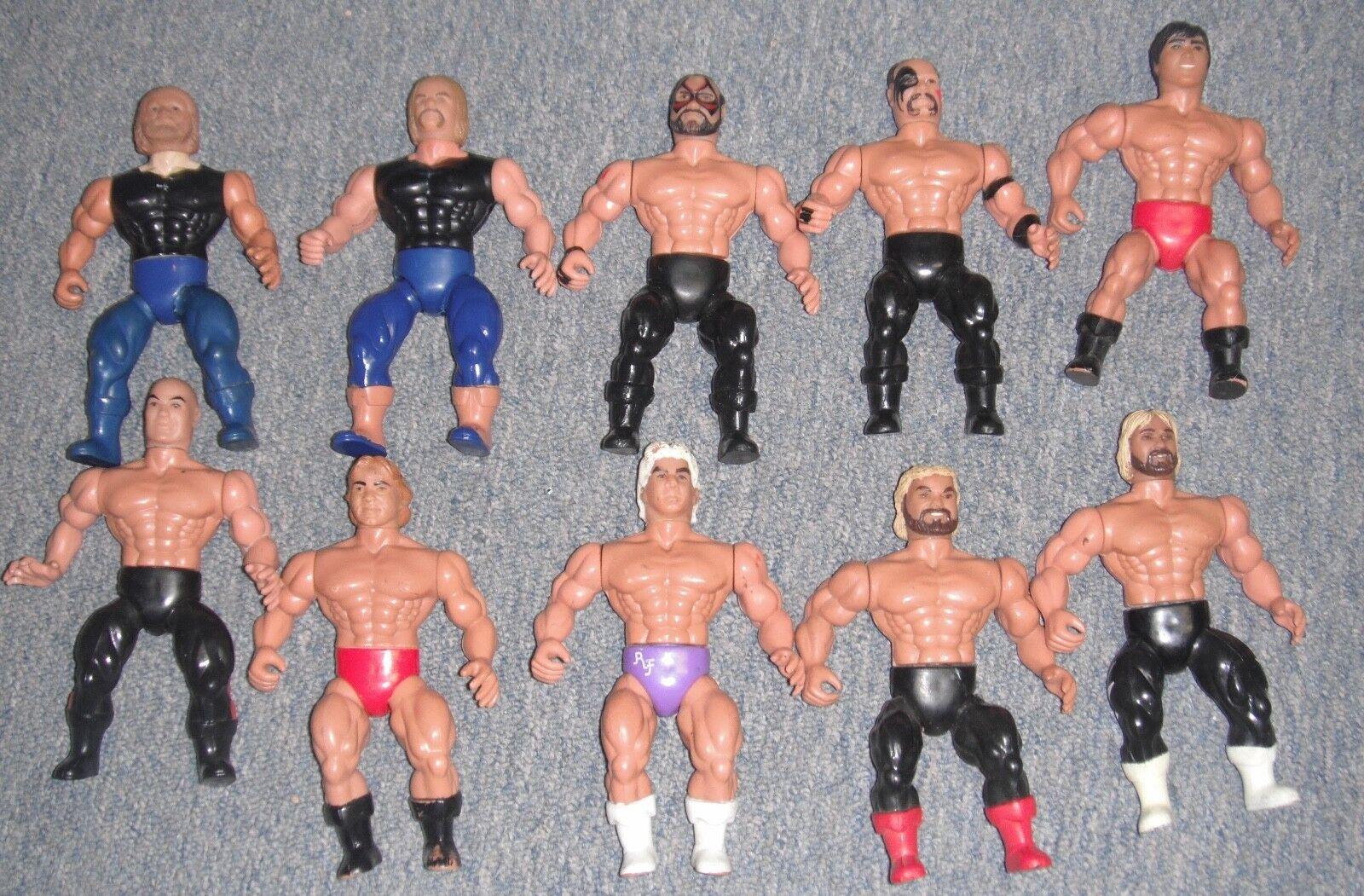 "Vintage AWA ""American Wrestling Association (Remco) Figures Lot of 10"