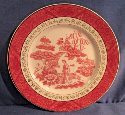 Double Phoenix pink rot weitere Keramik N.K.T Teller Japan Kuchenteller 19cm