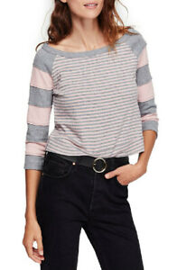 Free-People-Damen-OB906698-Top-Entspannt-Heather-Grey-Mehrfarbengross-Groesse-XS