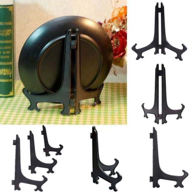 """Display Easel Stand Plate Bowl Frame Photo Picture Pedestal 3/""""5/""""7/""""9/""""Holder Decor"""