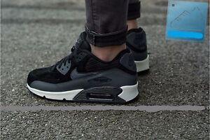 8e6027c44d Nike Air Max 90 LTHR Wmn Shoe Sz 10.5 768887-001 Black Metallic ...