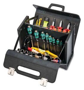 Parat-2-460-000-401-New-Classic-ABS-Leder-Werkzeugtasche-mit-Mittelwand-NEU