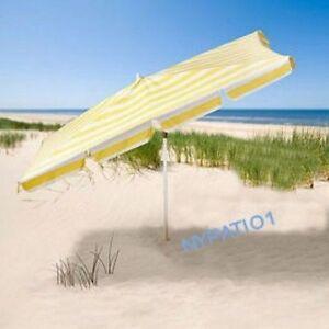 6 X 4 Ft Beach Patio Rectangular Umbrella Tilts Yellow And