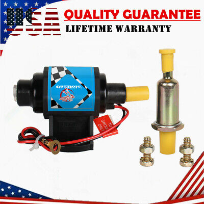 "Universal 12D Electronic Fuel Pump Low Pressure 35GPH Micro Gasoline Pump 3//8/"""