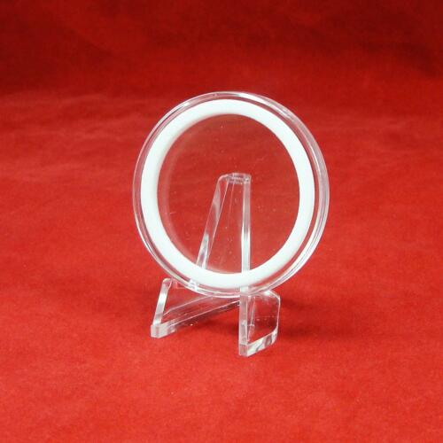 5 AirTite Coin Holder Capsules with White Ring for American Silver Eagle I40mm