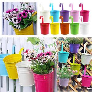 Colorato metallo ferro per appendere i vasi da fiori for Tavolo per balcone da appendere