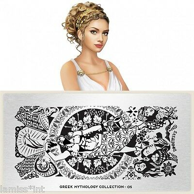 MoYou London GREEK 5 MYTHOLOGY Collection Stamping Schablone, Dionysus Ornament