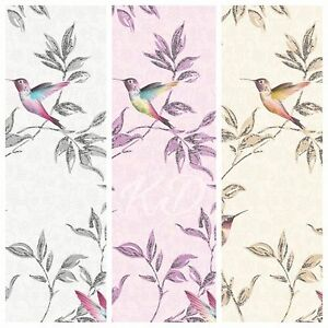 Fine-Decor-Sparkle-Glitter-Birds-Wallpaper-10m-3-Colours