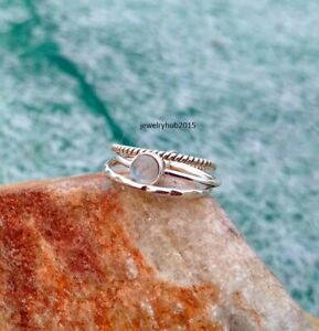 Solid-925-Sterling-Silver-Ring-Anxiety-Silver-Ring-Handmade-Moonstone-Ring