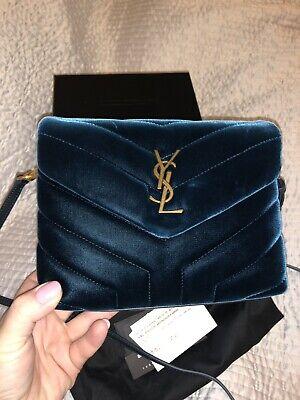 ba43ca4f012 Details about NWT 💯Authentic YSL Saint Laurent Toy Loulou Velvet Matelasse  Messenger Bag.