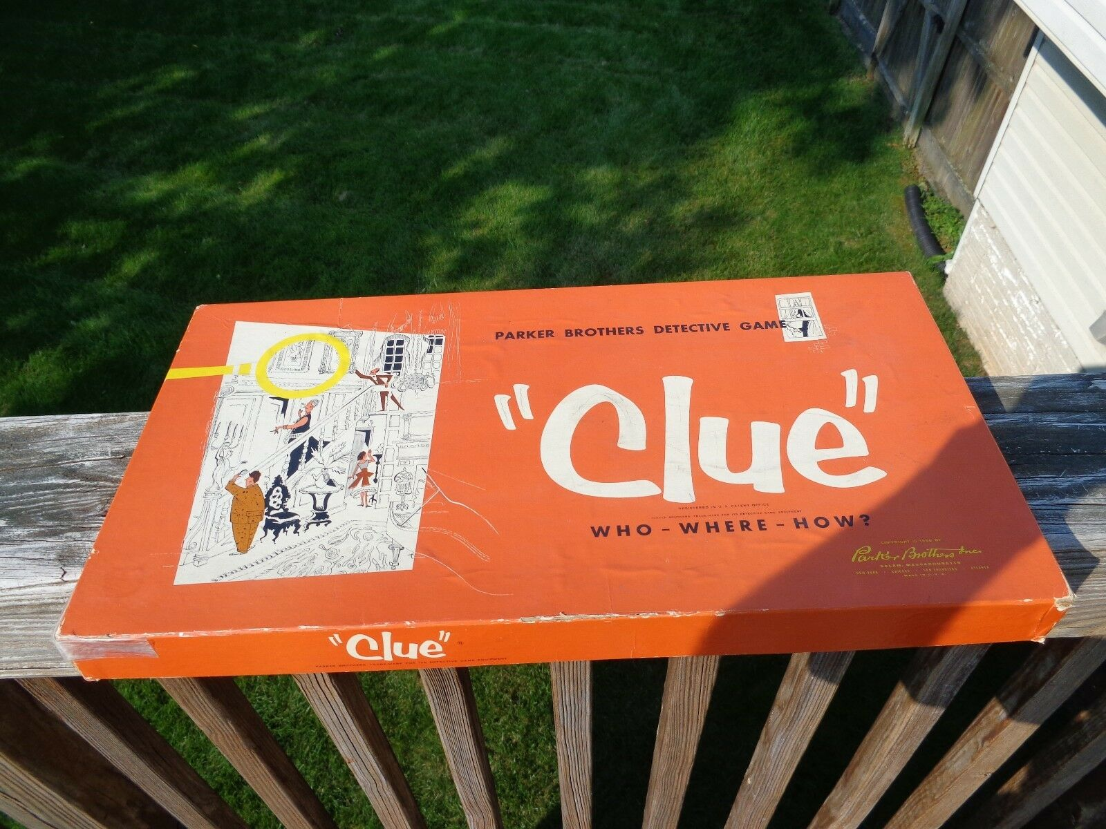 VINTAGE CLUE THE GREAT DETECTIVE GAME PARKER BredHERS BOARD GAME (1956) COMPLETE