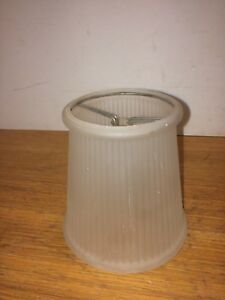 Vintage Lampshade Ribbed Frosted Glass Table Lamp Shade Parts Ebay