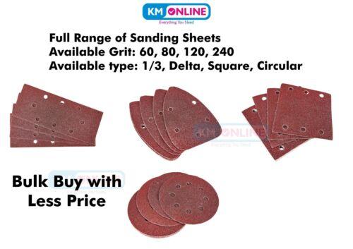 Feuilles Abrasives Delta Square Circular 1//3 Amtech 60 80 120 240 Grain Papier de verre nouveau