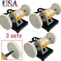 3x Polisher Polishing Machine Dental Lab Lathe Bench Table Buffing Tool Jewelry
