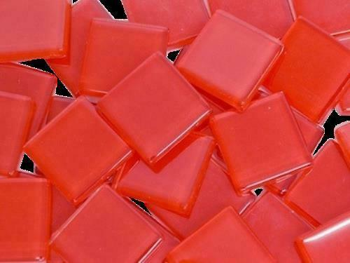 Red Crystal Glass Mosaic Tiles 2cm - Mosaic Tile Supplies Art Craft