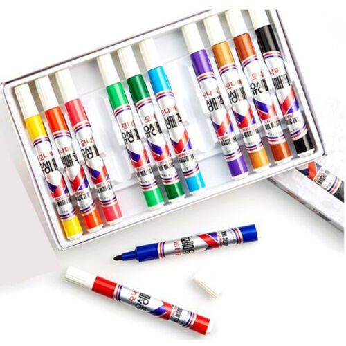 Monami Permanent Markers Pen  8//12 Colors Set Oily Alcohol Based Ink Stationery