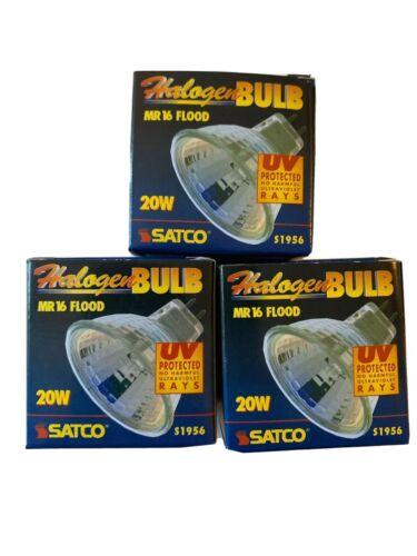 Lot of 3 Satco MR16 Halogen Flood Bulb 20W s1956 NEW
