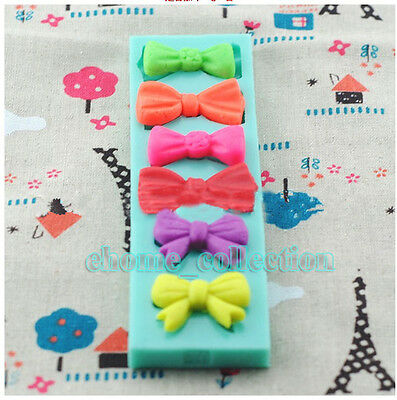 3D Bow Tie / Bowknot Silicone Sugar craft Fondant Candy Chocolate Cupcake Mold