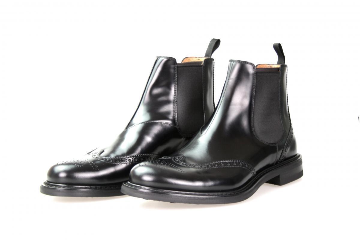Auténtico LUXURY CHURCH'S Medio-bota zapatos A2944F Negro Nuevo 6,5 40,5 41