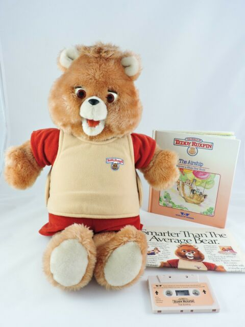 TEDDY RUXPIN bear 1st Generation SOUND ONLY 1985 Worlds of Wonder COMPLETE gen