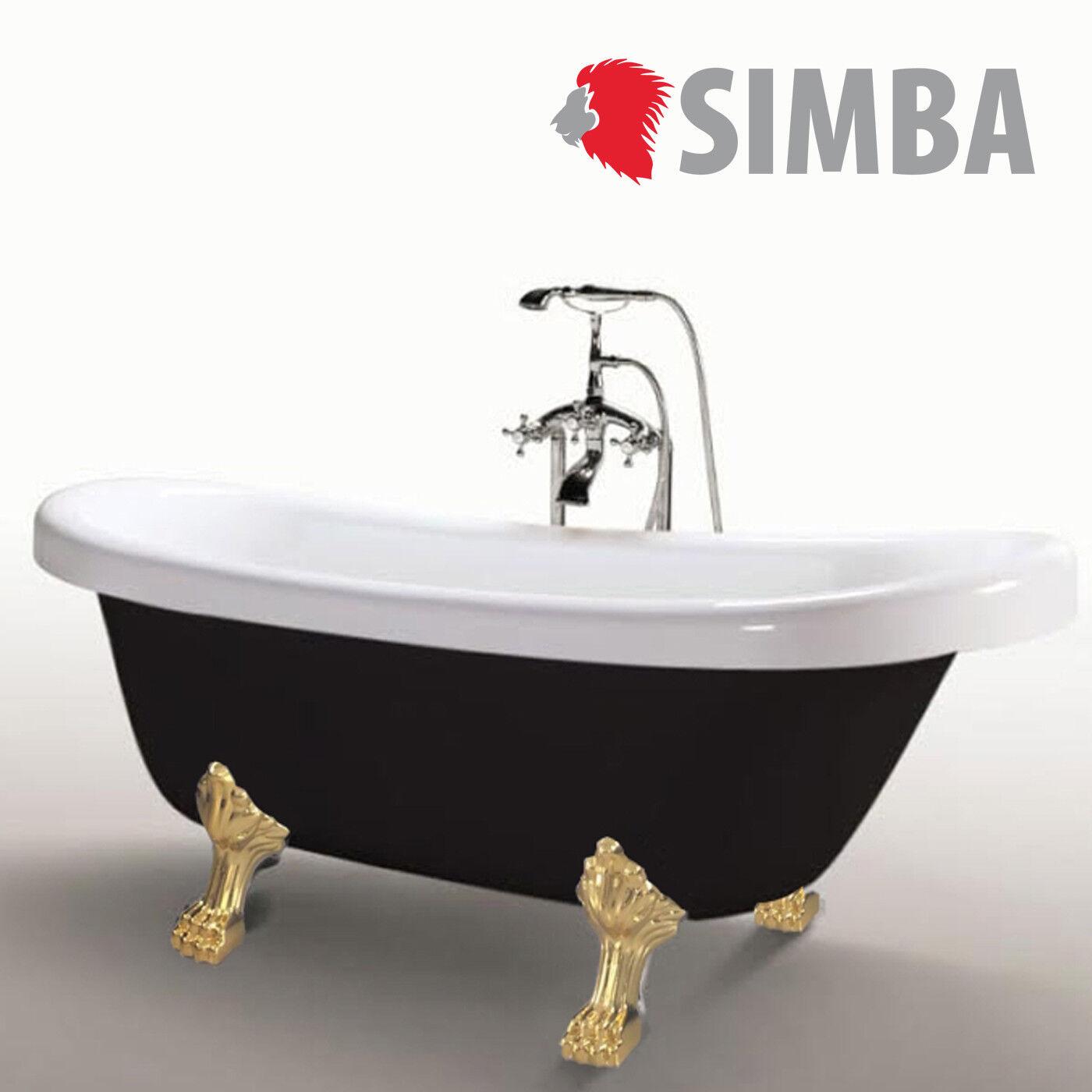 baignoire ilôt margherita ovale acrylique retro vintage 170x80 cm