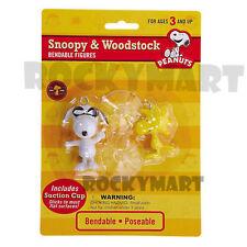 Peanuts Snoopy JOE COOL & WOODSTOCK (Bendable Figure Set) Classic Schultz RM1863