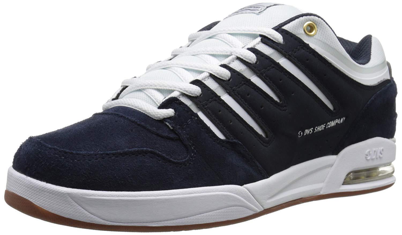 Scarpa da Skate DVS Tycho Blu Marino Bianco Bianco Bianco Gum Suede 420e48